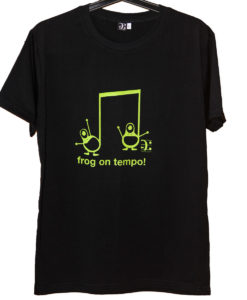 musical frogs tshirt - black