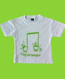 frog tshirt kids white