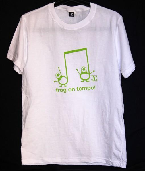 musical frog tshirt - white