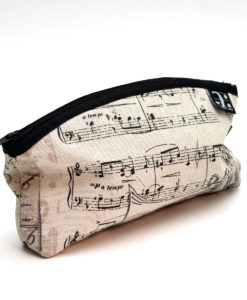 Pencil Case with music ornaments