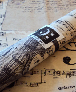 musical placemats detail