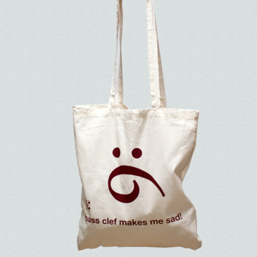 Tote Bag with a Bass Clef
