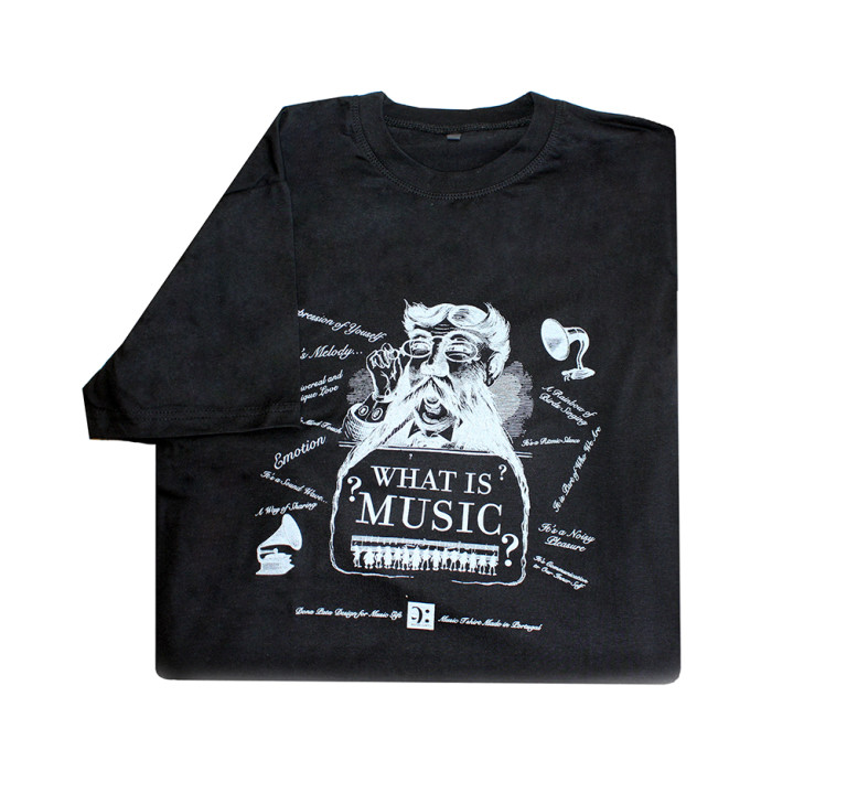 MG-500P-T-shirt What is Music black