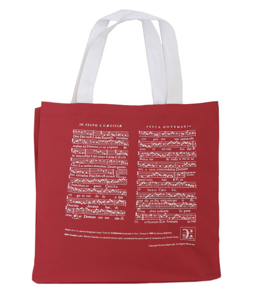 MG-600-Shopper bag St Cecilia red