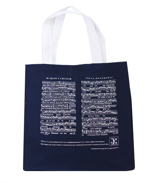 MG-601-Shopper bag St Cecilia blue